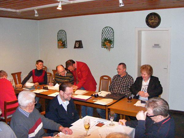 JHV 2010, Hinten: A. Krull, H. Lindhorst, D. v. Minden, M.Braunschweig, A. Sievert